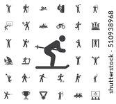 ski icon on the white... | Shutterstock .eps vector #510938968
