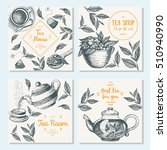 banner set for tea shop.... | Shutterstock .eps vector #510940990