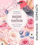 vintage wedding invitation | Shutterstock .eps vector #510941674