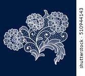 lace flowers decoration element | Shutterstock .eps vector #510944143