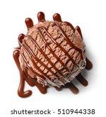 chocolate ice cream ball and... | Shutterstock . vector #510944338