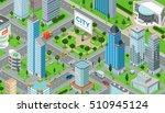 flat isometric megalopolis... | Shutterstock .eps vector #510945124