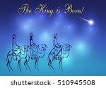 stylized biblical christmas... | Shutterstock .eps vector #510945508