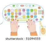 computer keyboard funny cartoon ... | Shutterstock .eps vector #51094555