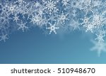 banner with snowflakes.... | Shutterstock .eps vector #510948670