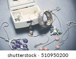 a collection of vintage jewelry ... | Shutterstock . vector #510950200