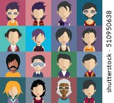 set of people icons in flat... | Shutterstock .eps vector #510950638