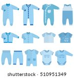 baby clothes. garments for... | Shutterstock .eps vector #510951349