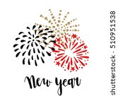 happy new year greeting card ... | Shutterstock .eps vector #510951538