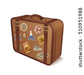 old vintage leather suitcase... | Shutterstock . vector #510951988