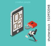 flat isometric thief in mask... | Shutterstock .eps vector #510952048