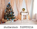 merry christmas and new year... | Shutterstock . vector #510955216