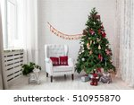 merry christmas and new year... | Shutterstock . vector #510955870