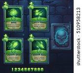 set spell cards of haze  life's ... | Shutterstock .eps vector #510958213