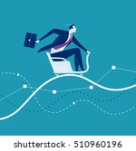 ride. businessman sits on a... | Shutterstock .eps vector #510960196