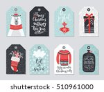 christmas tags set  hand drawn... | Shutterstock .eps vector #510961000