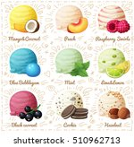 set of cartoon vector icons... | Shutterstock .eps vector #510962713