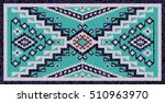 colorful mosaic navajo rug with ... | Shutterstock .eps vector #510963970