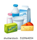 dairy products  milk food.... | Shutterstock .eps vector #510964054