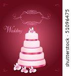 wedding cake | Shutterstock .eps vector #51096475