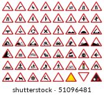 road sign icons | Shutterstock .eps vector #51096481
