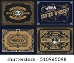 set whiskey labels. vector | Shutterstock .eps vector #510965098