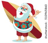 santa claus giving the hang... | Shutterstock .eps vector #510965860