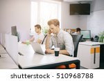 a young programmer is looking...   Shutterstock . vector #510968788