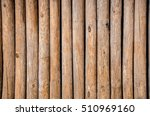 Bamboo Wood Pole Fence Wall...