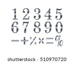 mathematics numeral silver ... | Shutterstock .eps vector #510970720