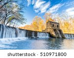 Small photo of Speedwell dam waterfall, on Whippany river, along Patriots path, in Morristown, New Jersey