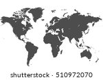 vector map of the world printed ... | Shutterstock .eps vector #510972070