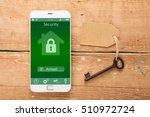 smartphone with smart home... | Shutterstock . vector #510972724
