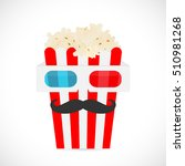 illustration of 3d glasses and... | Shutterstock .eps vector #510981268