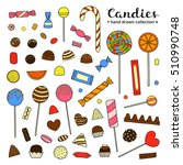 collection of hand drawn... | Shutterstock .eps vector #510990748