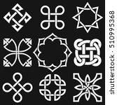 celtic knots in vector editable ... | Shutterstock .eps vector #510995368