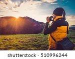 nature photographer tourist... | Shutterstock . vector #510996244