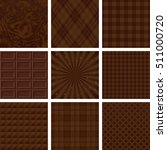 set of brown patterns.... | Shutterstock .eps vector #511000720