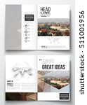 set of business templates for... | Shutterstock .eps vector #511001956