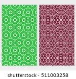 set of abstract geometry flower ... | Shutterstock .eps vector #511003258