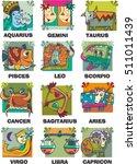 zodiac element. funny. complete.... | Shutterstock .eps vector #511011439