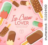 ice cream elements   vector... | Shutterstock .eps vector #511014430