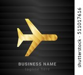airplane gold and black silk...   Shutterstock .eps vector #511017616