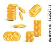 coin euro. euro money. stacks... | Shutterstock .eps vector #511025248