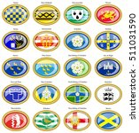 set of icons. counties of... | Shutterstock .eps vector #511031590