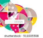 round shapes  circle banner... | Shutterstock . vector #511035508
