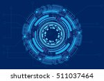 abstract futuristic digital... | Shutterstock .eps vector #511037464