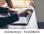 closeup of businessman's hand... | Shutterstock . vector #511038643