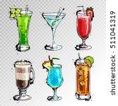 hand drawn illustration of set... | Shutterstock .eps vector #511041319