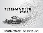 telehandler of the particles....   Shutterstock .eps vector #511046254